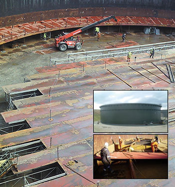 Floating roof Storage tank production